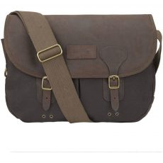 barbour wax and leather bag