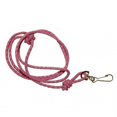 bisley plaited pink leather