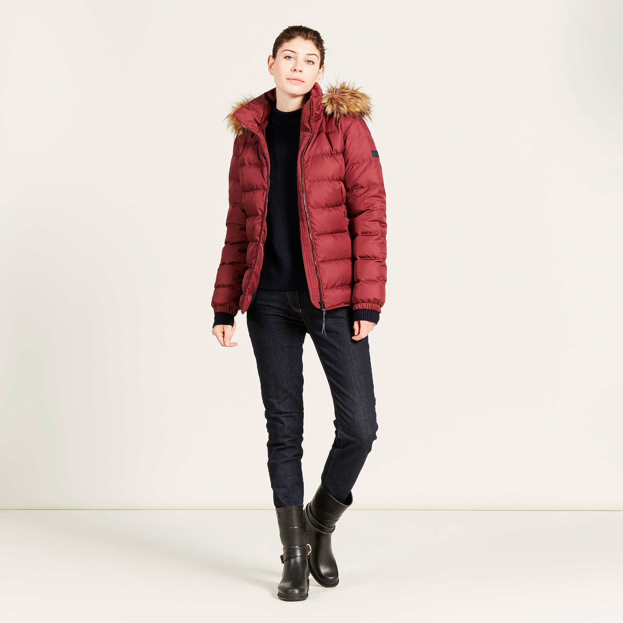 Aigle Rigdown Short Ladies Duck Down Fur Collar Jacket – Melbourne Gun